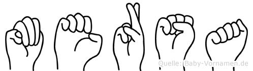 Mersa in Fingersprache für Gehörlose