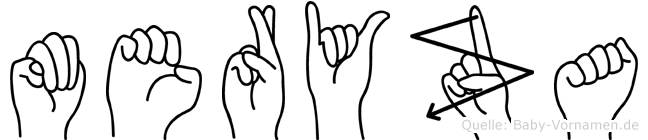 Meryza in Fingersprache für Gehörlose