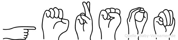 Gersom im Fingeralphabet der Deutschen Gebärdensprache