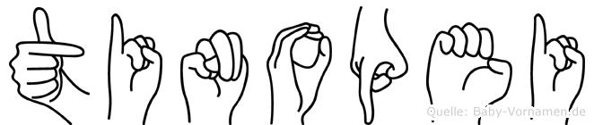 Tinopei im Fingeralphabet der Deutschen Gebärdensprache