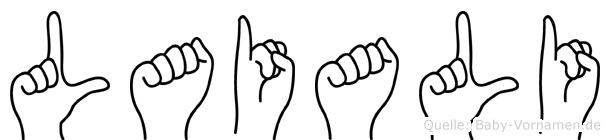 Laiali in Fingersprache für Gehörlose