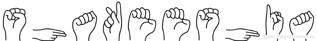 Shakeeshia in Fingersprache für Gehörlose