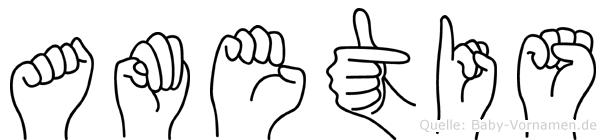 Ametis in Fingersprache für Gehörlose