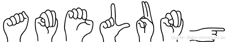 Amelung in Fingersprache für Gehörlose