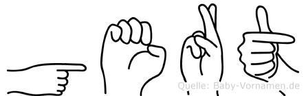 Gert in Fingersprache für Gehörlose