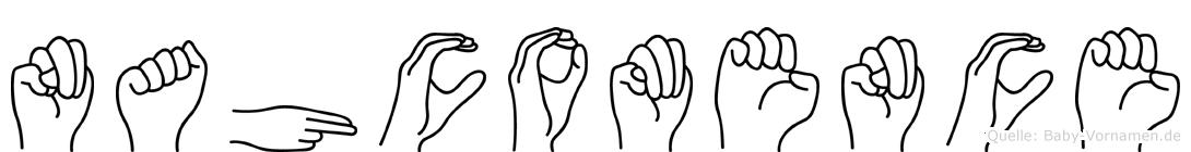 Nahcomence in Fingersprache für Gehörlose