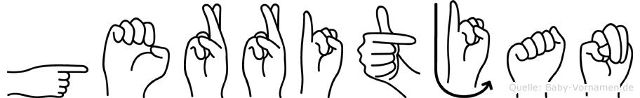 Gerritjan in Fingersprache für Gehörlose