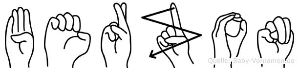 Berzon in Fingersprache für Gehörlose
