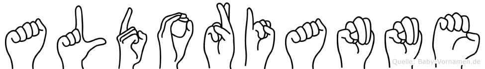 Aldorianne in Fingersprache für Gehörlose