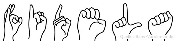 Fidela in Fingersprache für Gehörlose
