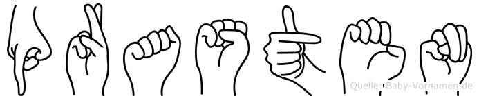 Prasten im Fingeralphabet der Deutschen Gebärdensprache