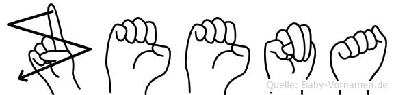 Zeena in Fingersprache für Gehörlose