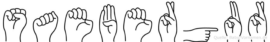Saebergur in Fingersprache für Gehörlose