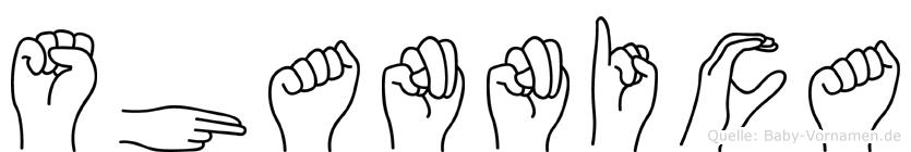 Shannica in Fingersprache für Gehörlose