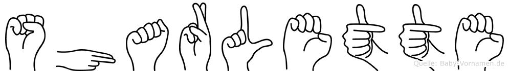 Sharlette im Fingeralphabet der Deutschen Gebärdensprache