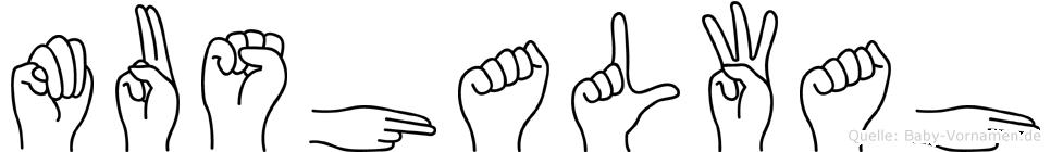Mushalwah in Fingersprache für Gehörlose