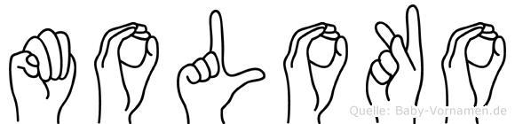 Moloko in Fingersprache für Gehörlose