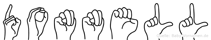 Donnell im Fingeralphabet der Deutschen Gebärdensprache