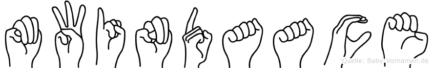 Mwindaace im Fingeralphabet der Deutschen Gebärdensprache