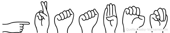 Graaben in Fingersprache für Gehörlose