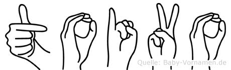 Toivo im Fingeralphabet der Deutschen Gebärdensprache