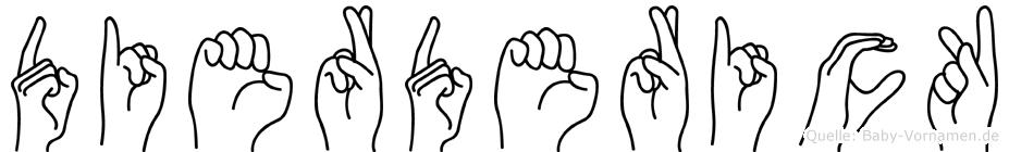 Dierderick im Fingeralphabet der Deutschen Gebärdensprache