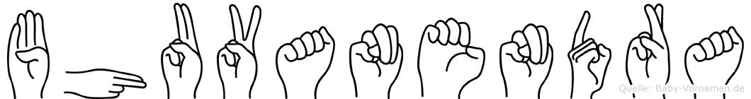 Bhuvanendra im Fingeralphabet der Deutschen Gebärdensprache