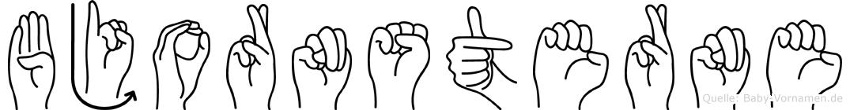 Bjornsterne in Fingersprache für Gehörlose