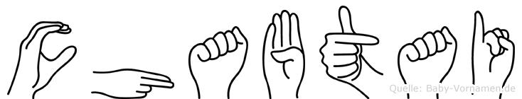 Chabtai im Fingeralphabet der Deutschen Gebärdensprache
