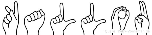 Kallou in Fingersprache für Gehörlose
