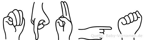 Mpuga in Fingersprache für Gehörlose