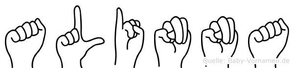 Alinna in Fingersprache für Gehörlose