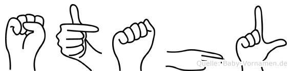 Stahl in Fingersprache für Gehörlose