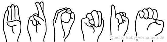 Bronie in Fingersprache für Gehörlose