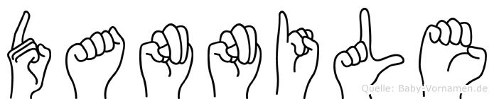Dannile im Fingeralphabet der Deutschen Gebärdensprache