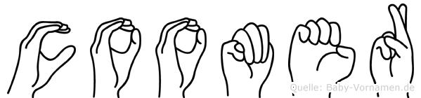 Coomer in Fingersprache für Gehörlose