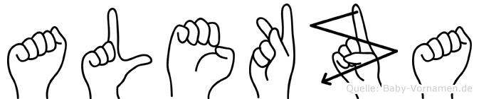 Alekza in Fingersprache für Gehörlose