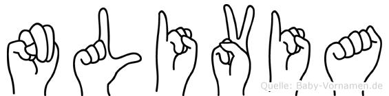 Nlivia in Fingersprache für Gehörlose