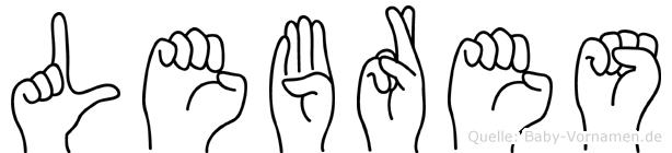 Lebres in Fingersprache für Gehörlose