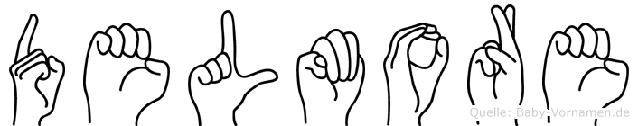 Delmore in Fingersprache für Gehörlose