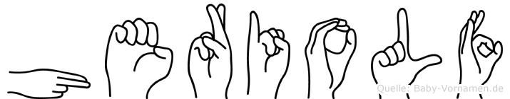 Heriolf in Fingersprache für Gehörlose
