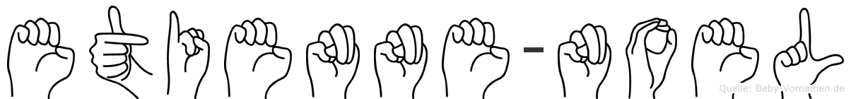 Etienne-Noel im Fingeralphabet der Deutschen Gebärdensprache