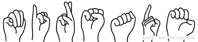 Mirsade im Fingeralphabet der Deutschen Gebärdensprache