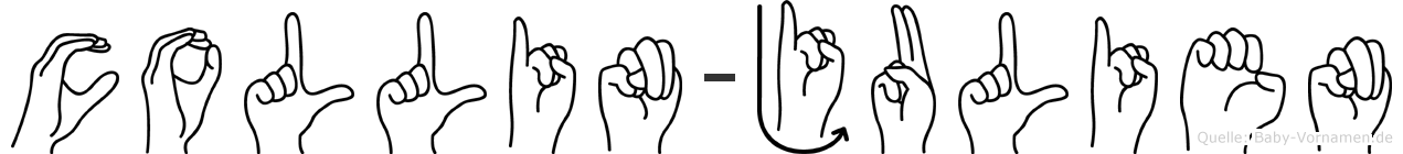 Collin-Julien im Fingeralphabet der Deutschen Gebärdensprache
