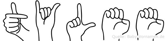 Tylee im Fingeralphabet der Deutschen Gebärdensprache