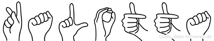 Kalotta im Fingeralphabet der Deutschen Gebärdensprache