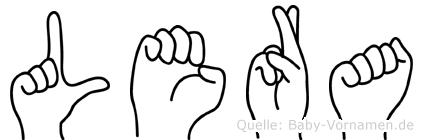 Lera im Fingeralphabet der Deutschen Gebärdensprache