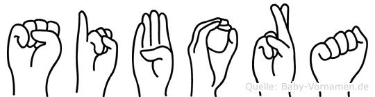 Sibora in Fingersprache für Gehörlose