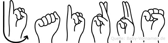 Jairus im Fingeralphabet der Deutschen Gebärdensprache