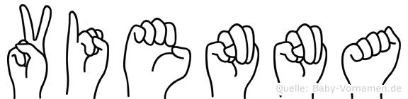 Vienna in Fingersprache für Gehörlose
